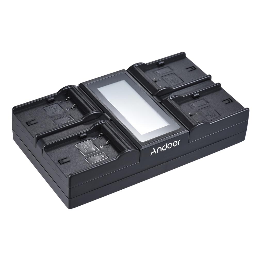 Andoer DMW BLF19E 4 Channel LCD ดิจิตอลสำหรับกล้อง Lumix DC GH5 DMC GH3 DMC GH3K DMC GH4 DMC GH4K-ใน ที่ชาร์จกล้อง จาก อุปกรณ์อิเล็กทรอนิกส์ บน AliExpress - 11.11_สิบเอ็ด สิบเอ็ดวันคนโสด 2