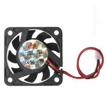 Mini 12V 2 Pin 40mm Computer Cooler Small Cooling Fan PC Black F Heat Sink a57(China)