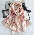 Dos capas de Lana de Satén de Crepe de Seda Twilly Bufanda de Las Mujeres Bufandas Chales Y Bufandas Hijab Bufandas Foulard Echarpe 190x62 cm SF0343