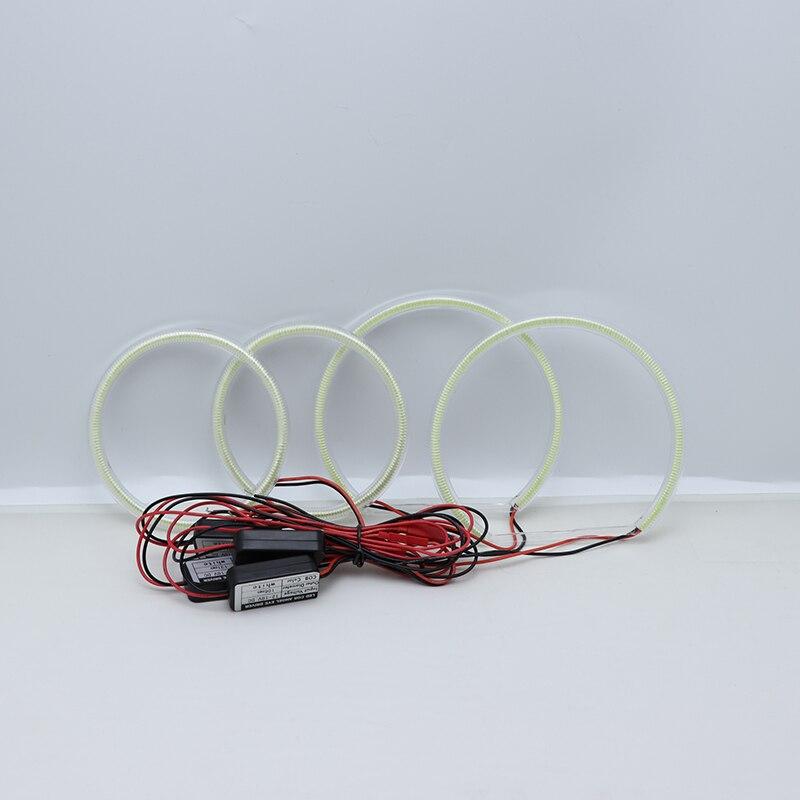 Ultra bright 131MM+106MM white COB LED Angel Eyes Kit day light For ...