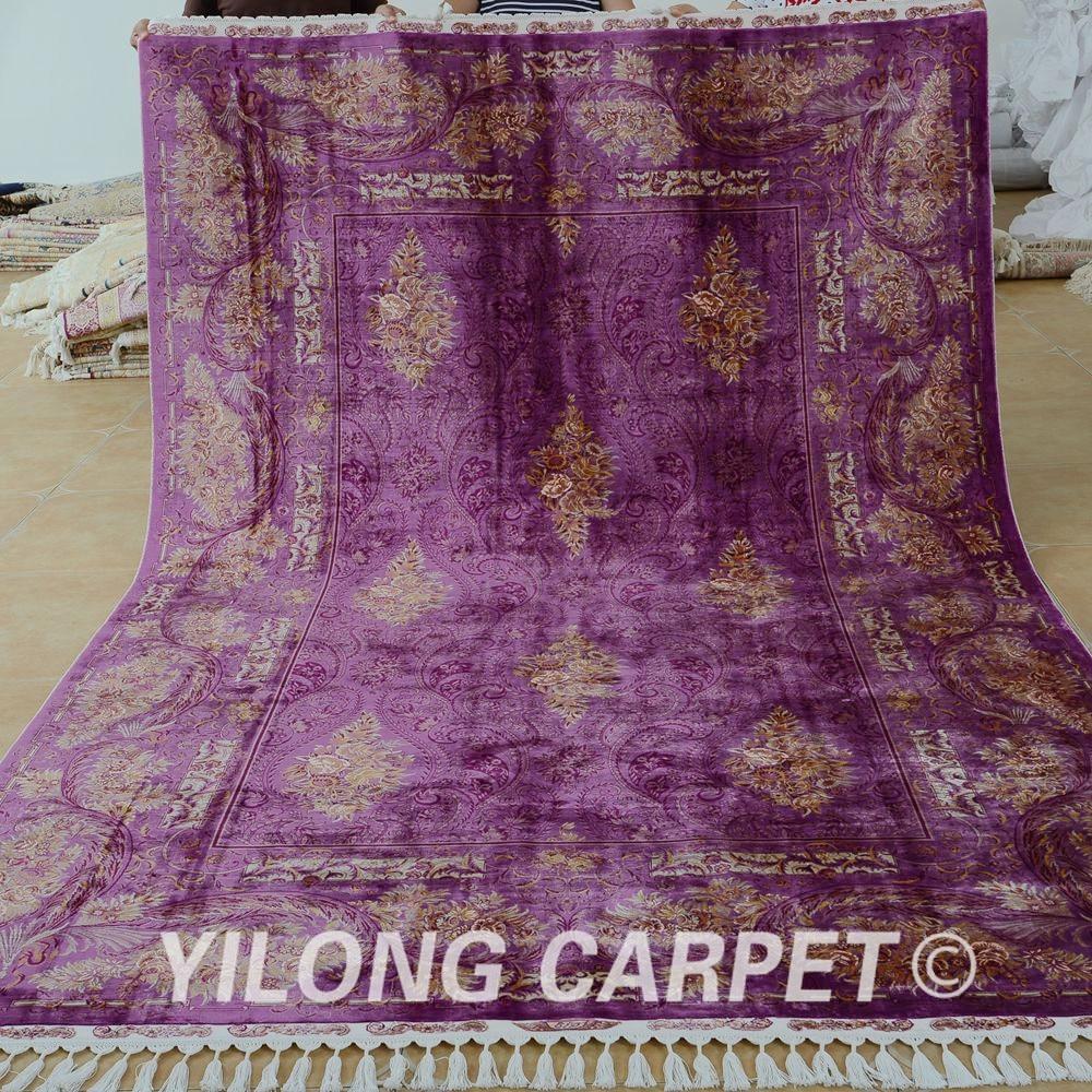 Yilong 6.56'x9.84 'Галерия килимче лилав - Домашен текстил - Снимка 1