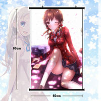 Anime Girl Poster Guilty Crown Menjou Hare Wall Scroll Mural Home Decor 80x60cm