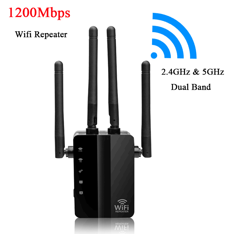 Wireless Wifi Repeater AC1200M WiFi Signal Amplifier Booster IEEE802.11ac Wifi Extender LAN WAN WPS Repetidor Access Point