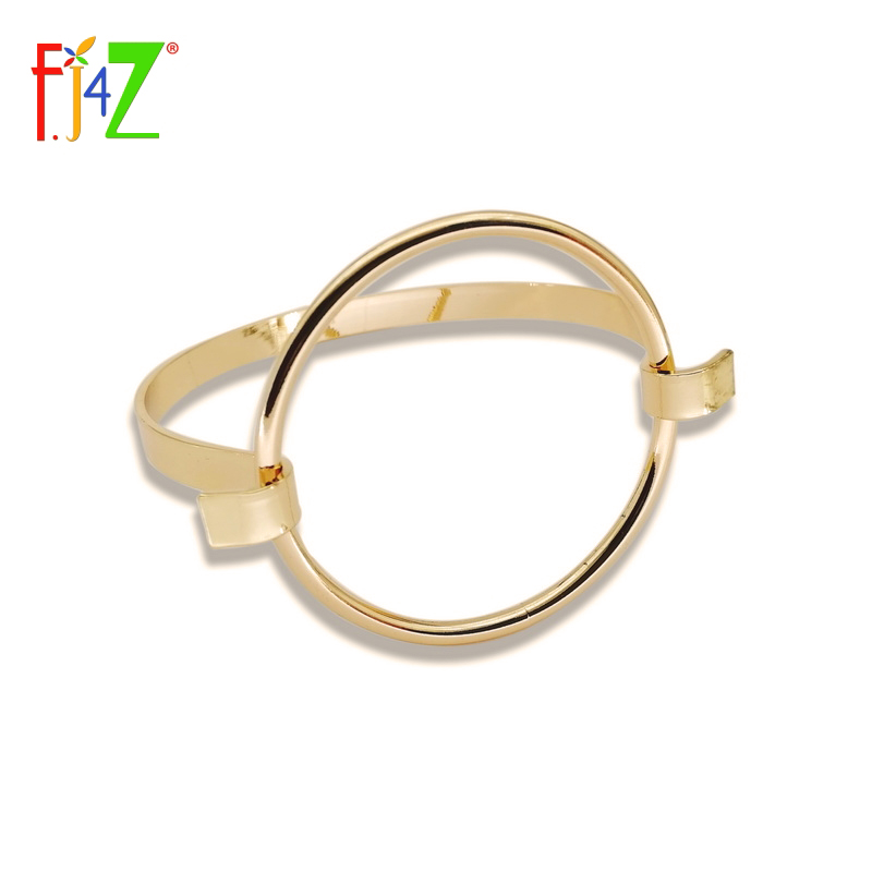 2016 New Fashionable Rock & Roll Gold Silver Plated Big Circle Geo Bangles & Bracelets for Women pulseiras de couro circle