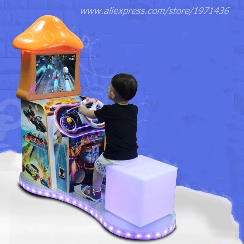 Kids Amusement Equipment Coin Operated Drive Car Video Game Machine For Children ...