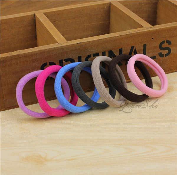 Diameter 4cm Headwear elastic Hair bands Accessories Rubber on piece Rope Elastic Hair Bands For Girls Kids Children cheap CJ001