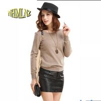 High Quality Cashmere Sweater Women Pullover 10 Colors Solid Knitted Sweater Top For Women Autumn Female
