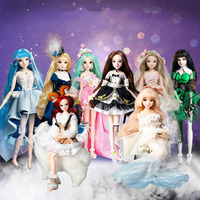 30 CM Twelve Constellations DIY Makeup Fashion Dolls 1/6 12 Moveable Joints Dress up Princess Dolls Toys For Kid Girl Dolls Gift