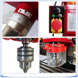 Image 5 - CNC Milling Machine Vertical Small Gear Drive Drilling Milling Machine 50  2500 rpm