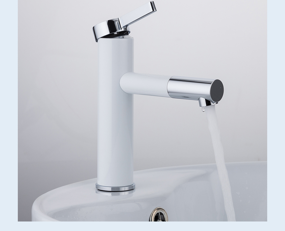 HTB1iQfka5YrK1Rjy0Fdq6ACvVXa2 Frap New Arrival White Spray Painting bath sink faucet Bathroom cold and hot tap Crane with Aerator 360 Rotating F1052-14/15