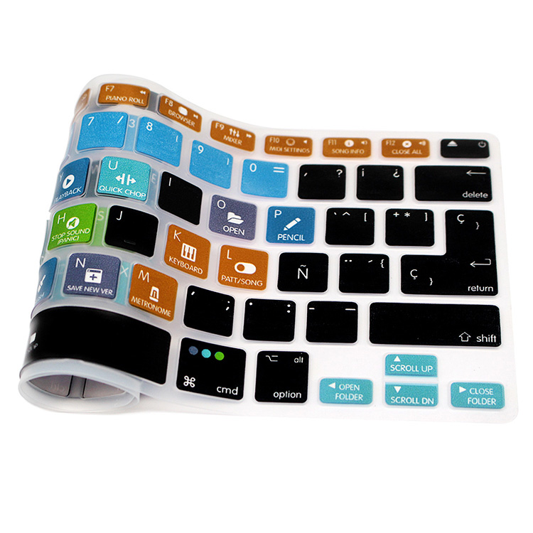 US $5 99 |HRH FL Studio Fruity Loops Spanish Shortcuts Silicone Keyboard  Cover Protector Keypad Skin For Mac Air Pro Retina 13