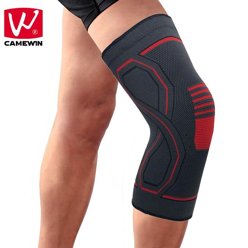 CAMEWIN 1 piezas alta elasticidad transpirable Protector rodilleras para correr, alivio del dolor articular, artritis y recuperación de lesiones