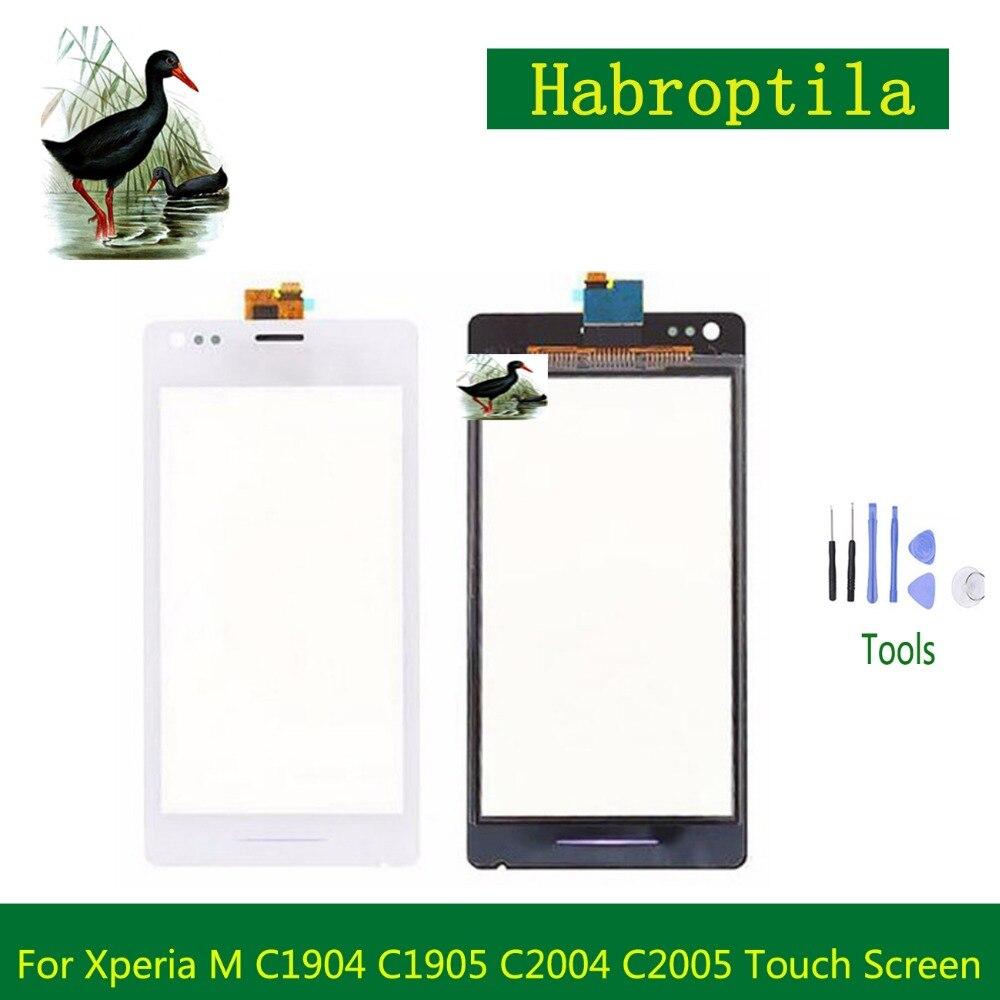 Haute Qualité 4.0 Pour Sony Xperia M C1904 C1905 C2004 C2005 Tactile Écran Digitizer Capteur Extérieur Panneau de Verre Objectif