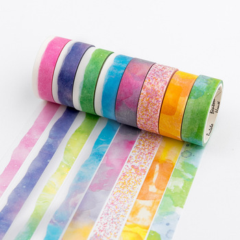 8pcs Art brush Crayon color masking tape Deco Watercolor pencil washi tapes stickers scrapbooking washitapes Stationery EJ155 фото