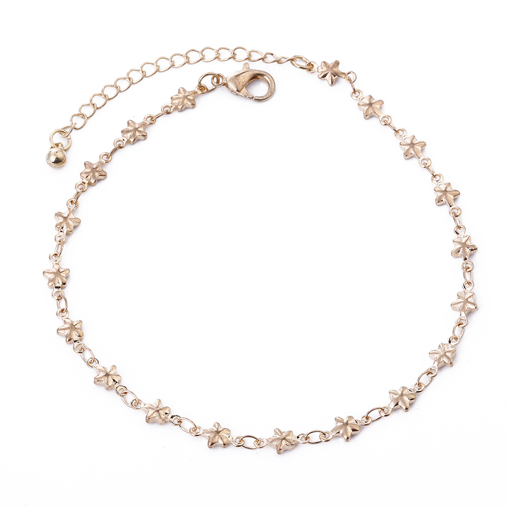 New Beach Foot Chain Anklets Personality Star Pendant Gold Silver Footchain Anklet Bracelet for Women Bohemian Jewelry in Anklets from Jewelry Accessories