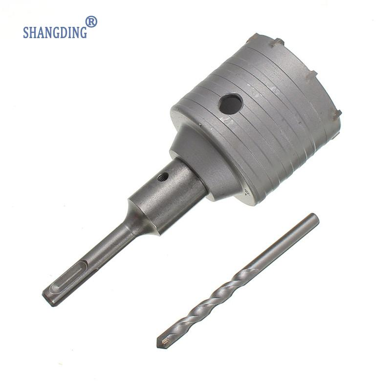 New Arrival 1PC 65mm SDS Plus Shank Concrete Cement Stone Wall Hole Saw Drill Bit With Wrench Hot Sale square shank concrete stone wall hole saw drill bit 40mm