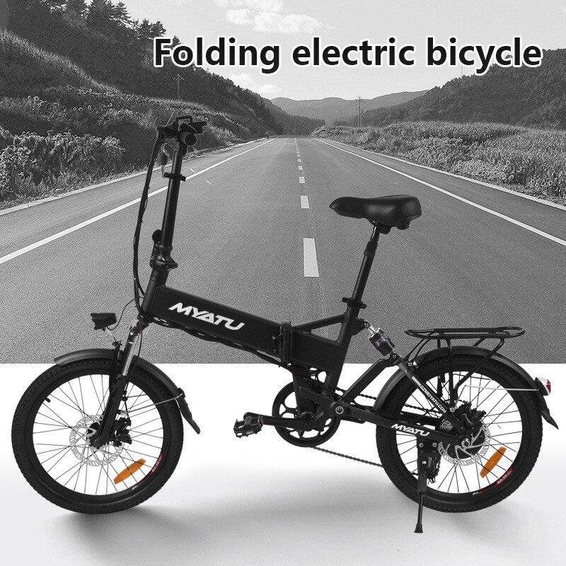 MYATU dorosły mini składany rower elektryczny moc silnika inteligentny przenośny składany czerwony rowerowy z pedałem ebike LOVELION ue dla rowerów
