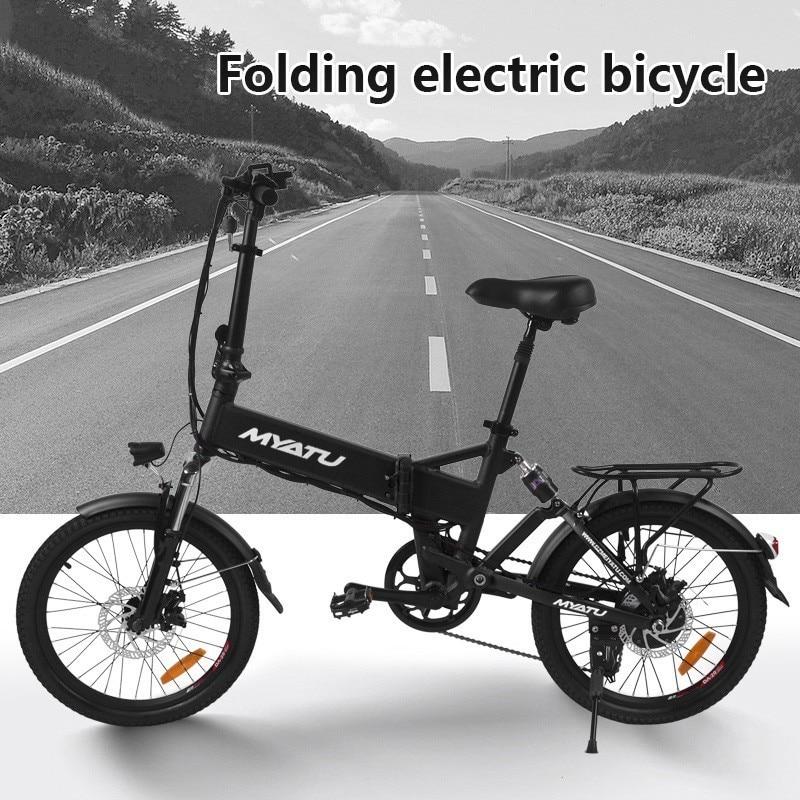 MYATU erwachsene mini klapp Elektrische Leistung motor fahrrad smart tragbare faltbare Rot Fahrrad Mit pedal ebike LOVELION EU für bikes