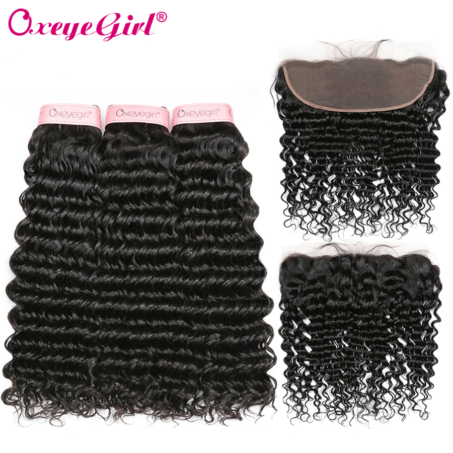 Deep Wave Bundles With Frontal Peruvian Hair Bundles With Frontal Human Hair frontal With Bundles Oxeye