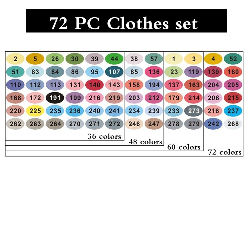 Цвет: Одежда 72 шт