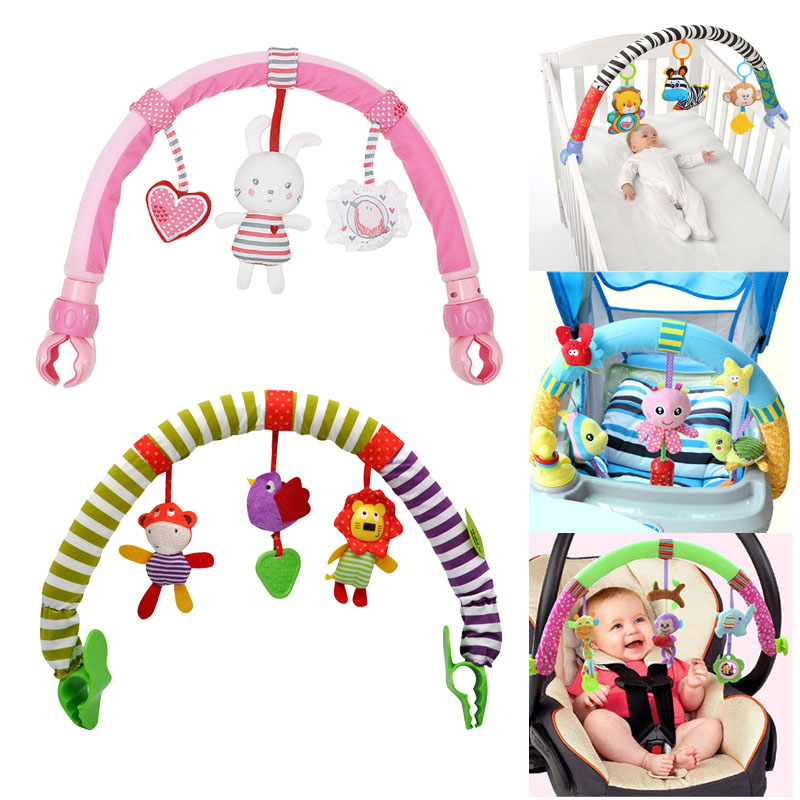Hot Sale Lovely Stroller Lathe Car Seat Cot Hanging Toys Baby Play Travel Baby Infant Baby Toys Educational Rattles Mobile