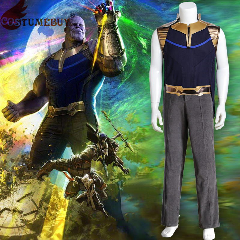 CostumeBuy Avengers: Infinity War Thanos Cosplay Costume Adult Men's Halloween Carnival Party Costume Custom Made