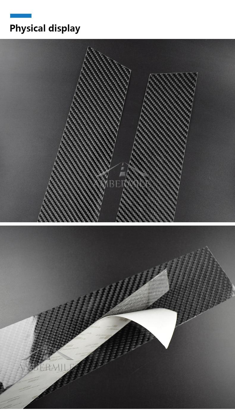 Mini Cooper F55 Countryman F60 Clubman F54 Accessories Carbon Fiber B Pillar Cover Trim Window Protection Stickers (5)