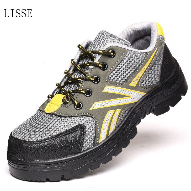 2018 hot LISSE men's color steel toe cap work safety shoes