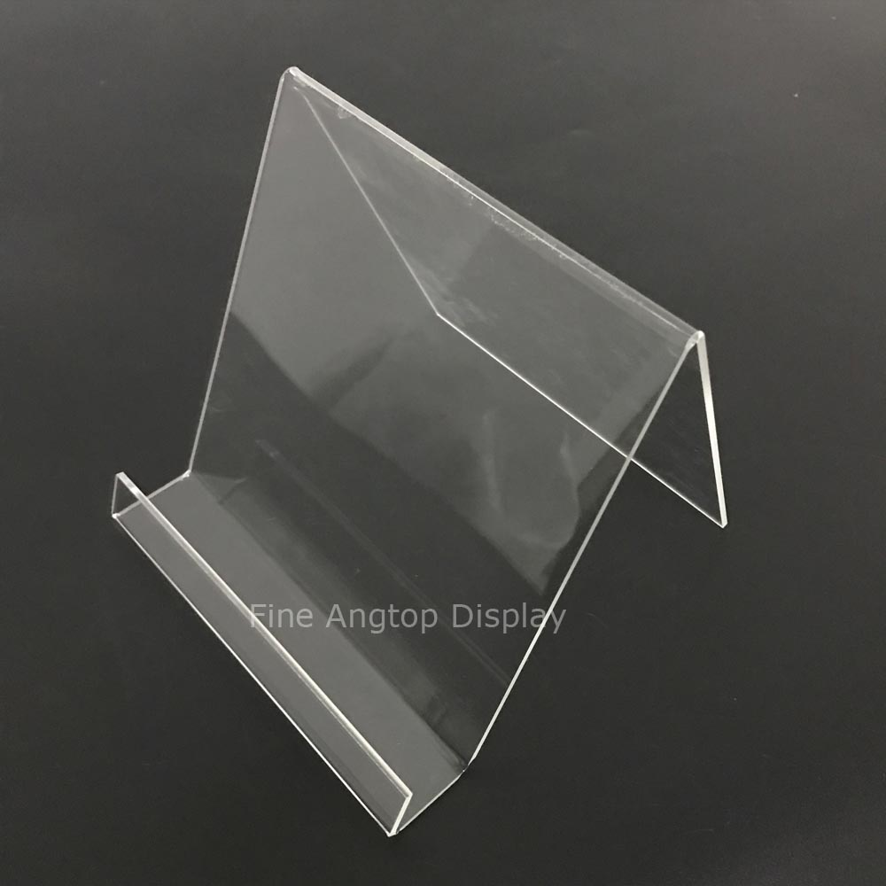 Perspex Acrylic Plastic Book Plate Phone Tablet Retail Shop Display Stand Holder