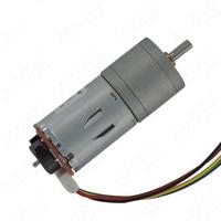 JGA25 371 Geared Motor Micro DC Hall Motor Encoder Speed Disc Motor 6V 12V 24V 8.6RPM 977RPM