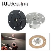 WLR RACING Aluminum Billet Fuel Cell / Fuel Surge Tank Cap Flush Mount 6 bolt Mirror Polished Opening ID 35.5mm WLR SLYXG01
