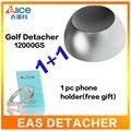 (Grátis para EUA) EAS Sistema 12000GS Golf Detacheur Segurança Tag Remover Super Ímã de Bloqueio Para Supermercado loja de Roupas + 1 PC presente