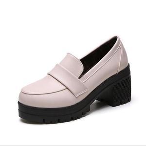 Image 2 - Uniform Schoenen Uwabaki Japanse Jk Vrouwen Meisjes Scholieren Lolita Schoenen Zwart Rood Beige Cosplay Schoenen Voor Volwassen