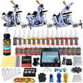 Solong Tattoo Complete Beginner Tattoo Kit 3 Pro Machine Guns 28 Inks Power Supply Needle Grips Tips TKC04