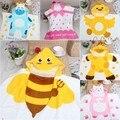 Nueva venta caliente de algodón con capucha bath wrap towel niños forma de la historieta del bebé albornoz beach towel