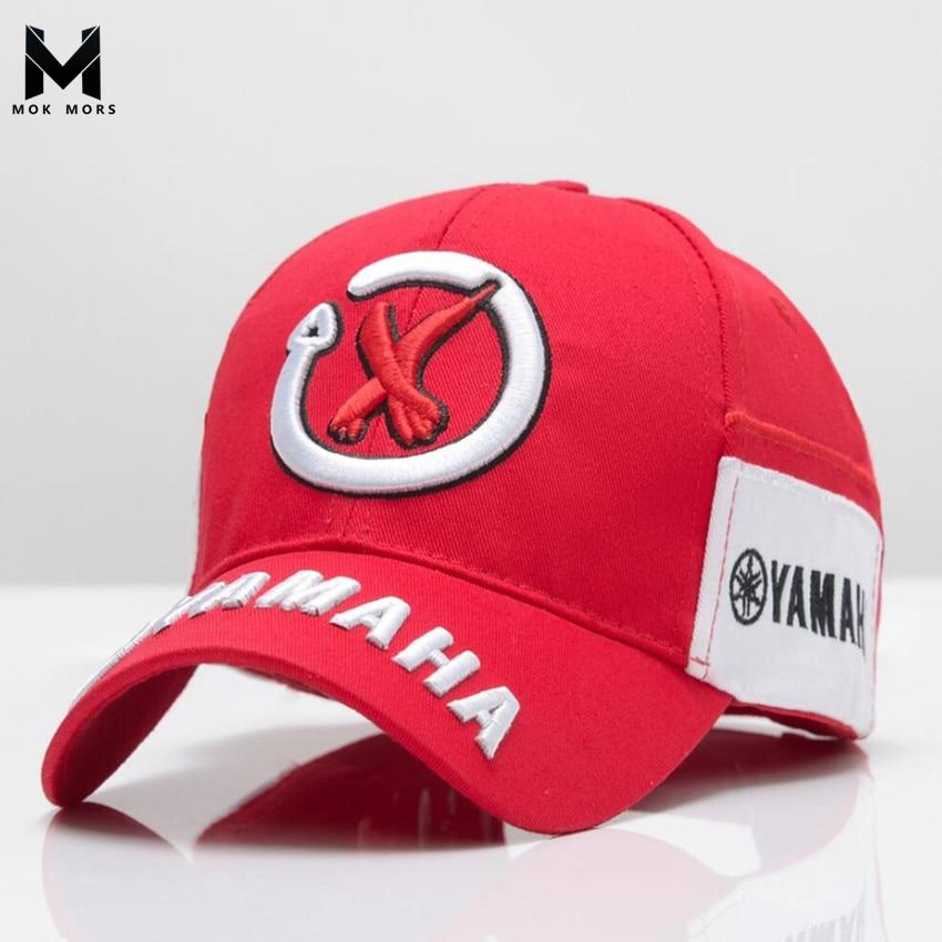 2018 New Mens Snapback   Caps   Wholesale Rossi 3D Embroidery   Baseball     Cap   Hat Motorcycle Racing   Cap   Men YAMAHA Brand   Baseball     Cap