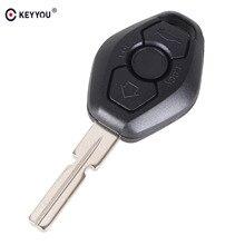 KEYYOU 10X Fernbedienung Auto Schlüssel Shell Fob Fall Abdeckung Für BMW 3 5 7 SERIE Z3 Z4 X3 X5 M5 325i E38 E39 E46 3 Taste