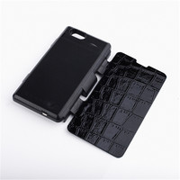 3500mAh Black Backup Battery Charger Power Case Flip Leather Cover Capa For Sony Xperia Z1 Compact/Z1 mini(M51w)D5503 with Stand