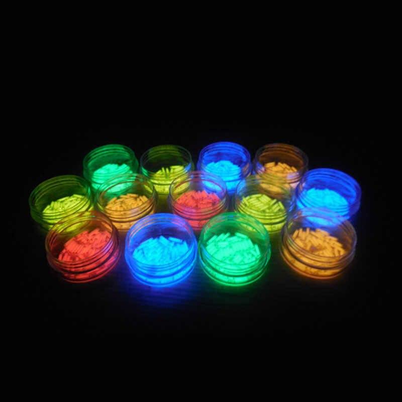 1PC 1.5*6 ミリメートル自動発光 25 年トリチウムキーホルダーキーリング蛍光管救命非常灯キャンプ用品