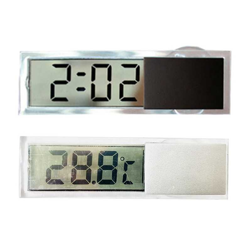 New LCD Car Digital Clock Auto Window Thermometer Celsius Fahrenheit Car Digital Clock Car Accessories