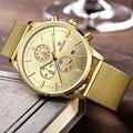 2016 nova militar stylish MEGIR marca de design de moda homens do cronógrafo esporte relógio masculino negócio relógio de pulso de luxo de aço relógio de presente