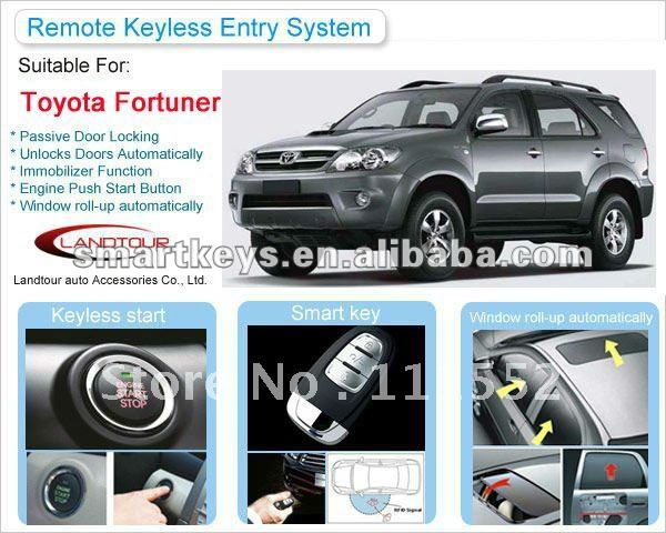 Car Alarm System Push Start Ignition Keyless On Toyota Fortuner Shenzhen Landtour New Hot