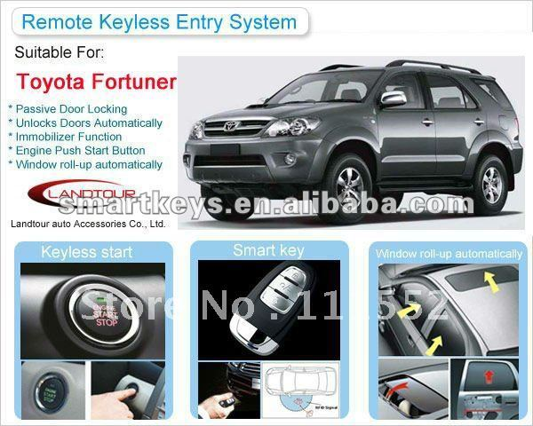 Car alarm system push start ignition keyless push button start Toyota Fortuner Shenzhen Landtour New Hot SUV