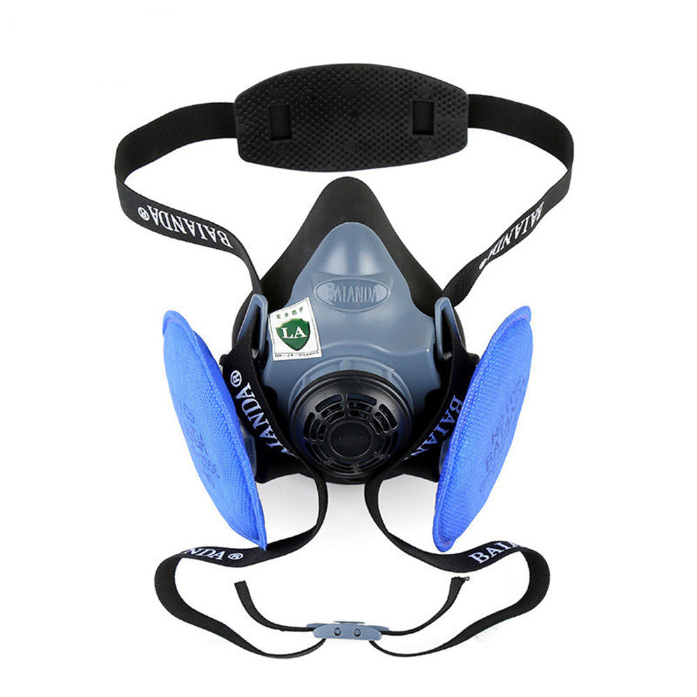 KN100 Dust Mask Particle Respirator Half Facepiece Reusable Anti-dust Mask Respiratory Protection 99.97% Filter Efficiency south nuclear 8089 half facepiece reusable respirator silicone mask anti organic gas