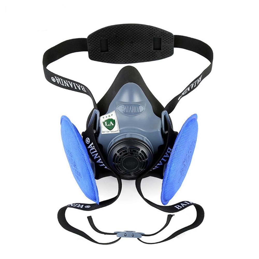 KN100 Dust Mask Particle Respirator Half Facepiece Reusable Anti-dust Mask Respiratory Protection 99.97% Filter Efficiency 3m 6700 6009 full facepiece reusable respirator filter protection mask respiratory mercury organic vapor