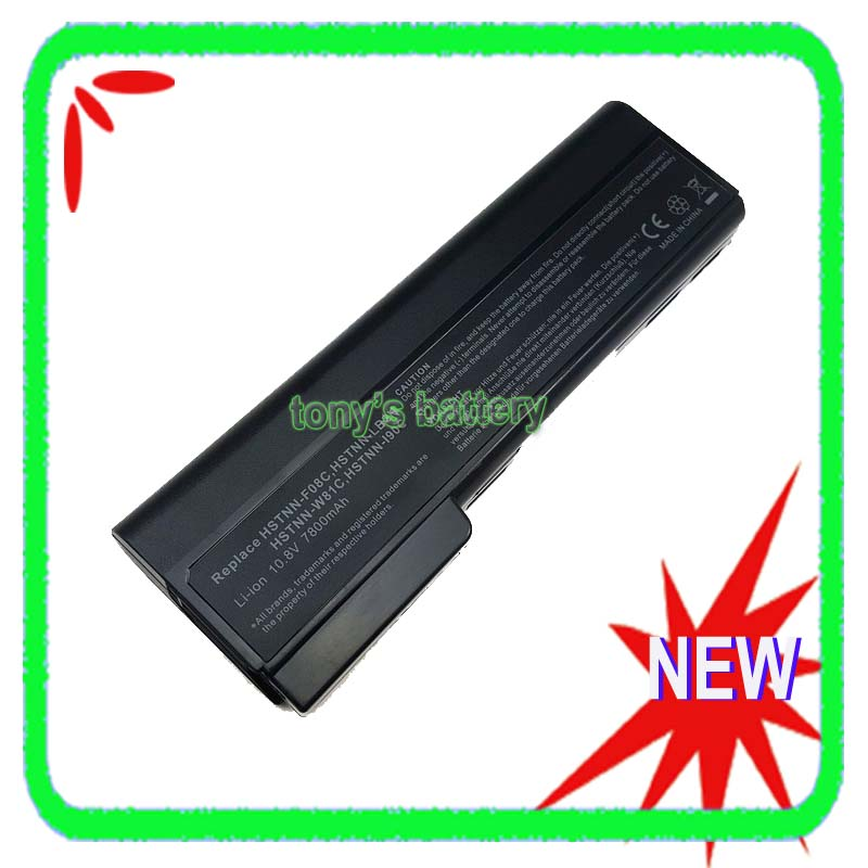 7800mAh 9 Cell <font><b>Battery</b></font> for <font><b>HP</b></font> <font><b>EliteBook</b></font> 8460p 8460w 8560p 8470p <font><b>8570p</b></font> 8470w HSTNN-OB2H CC09 628664-001 628666-001 image