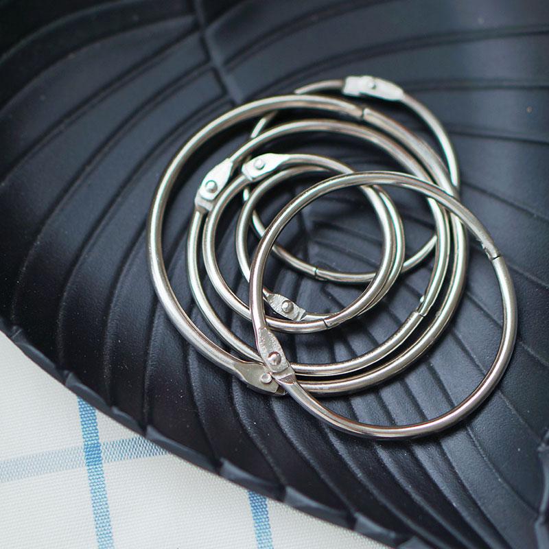 Buckle Loose Leaf Metal Binding Ring Binder Hinged Rings Handwerk Punch Ring Album Metal Book Rings
