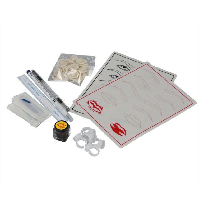 Kits de tatuagem Microblading Lábio Sobrancelha Caneta Manual de Pele Prática de Tatuagem tinta Kit Agulhas g61111