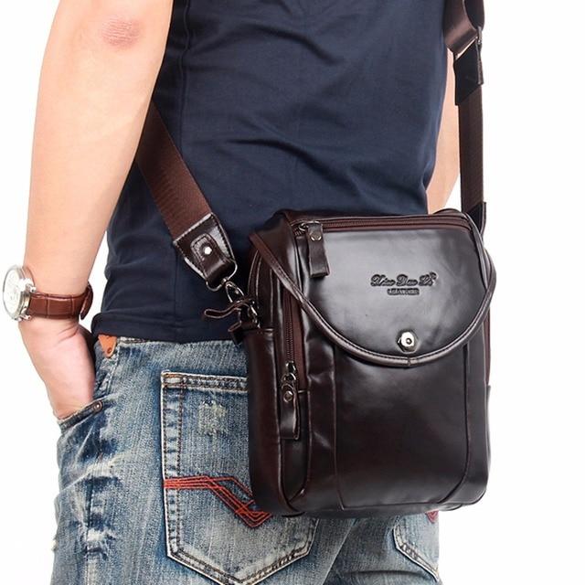 83c1c112377 100% Genuine Natural Leather Men Sling Shoulder Cross Body Bag Famous Brand  Design Business Male Real Skin Cowhide Messenger Bag