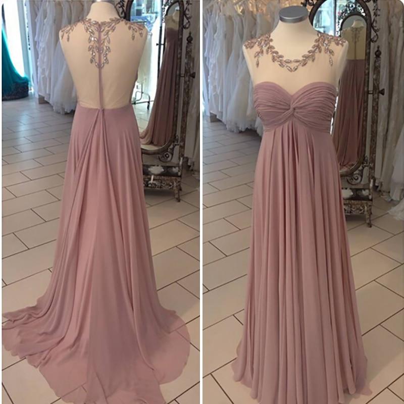 See Sheer Shining Crystal Scoop Navy Blue/Peach/Ivory/Champagne/Silver/Hunter Chiffon Mermaid   Bridesmaid     Dresse   Fast Shipping